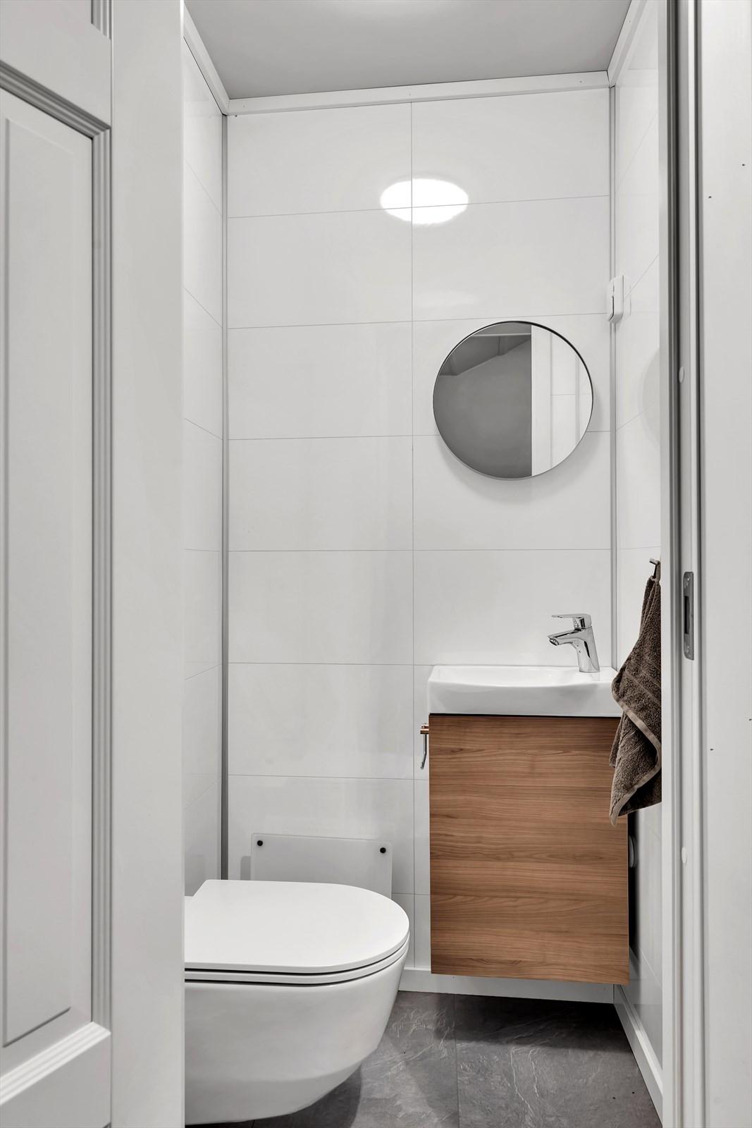 I gangen finner du et praktisk wc