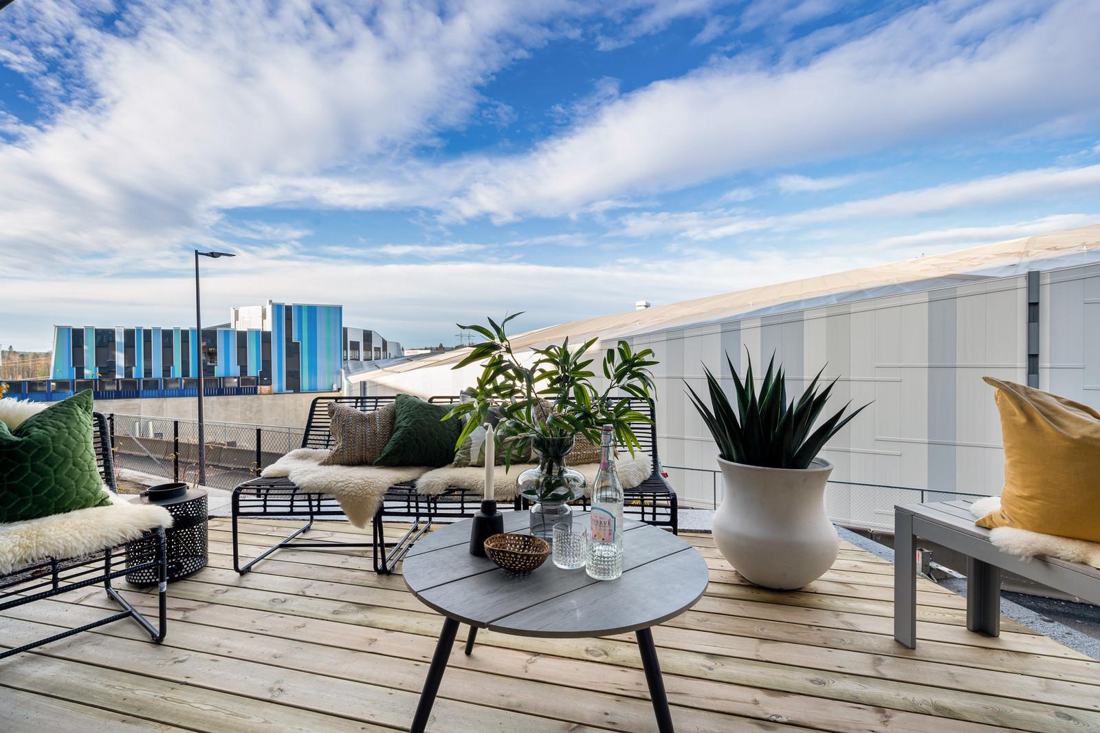 Nydelig terrasse