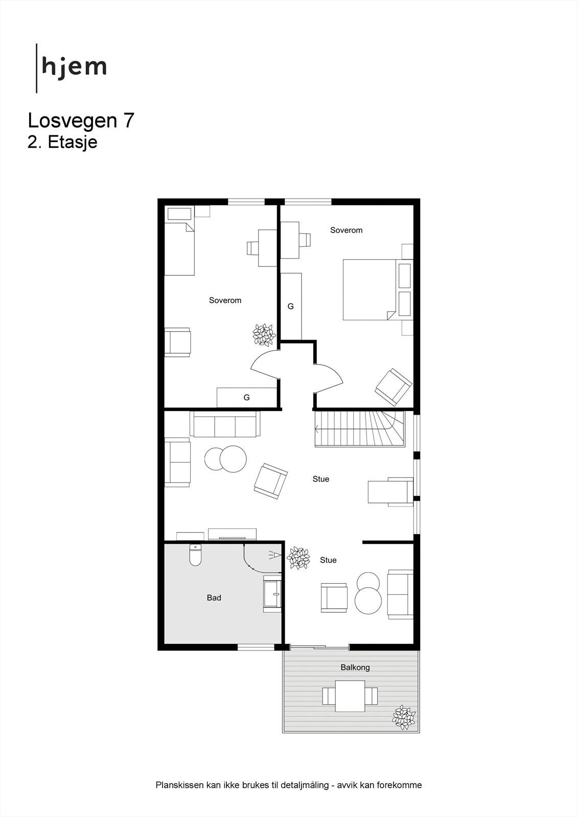 Planløsning 2. etasje 2D
