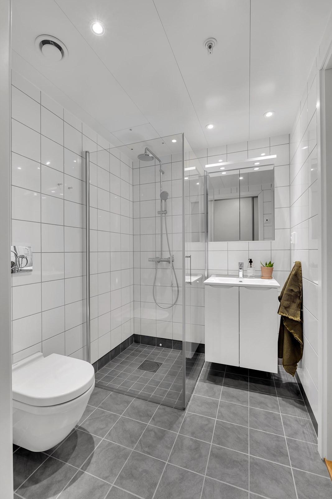 Ekstra bad med dusj og toalett.