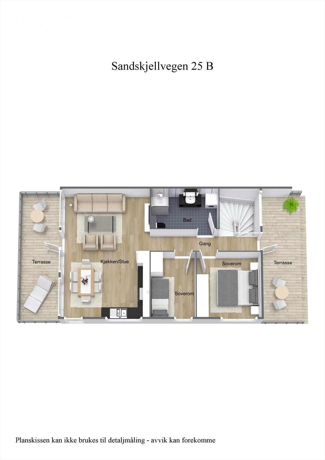 3-D planillustrasjon 2.etg