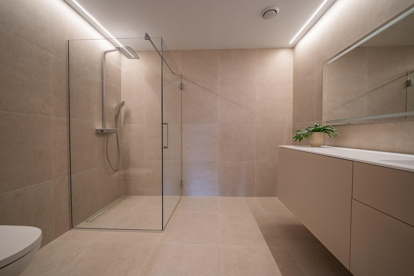 Badet er av fin størrelse