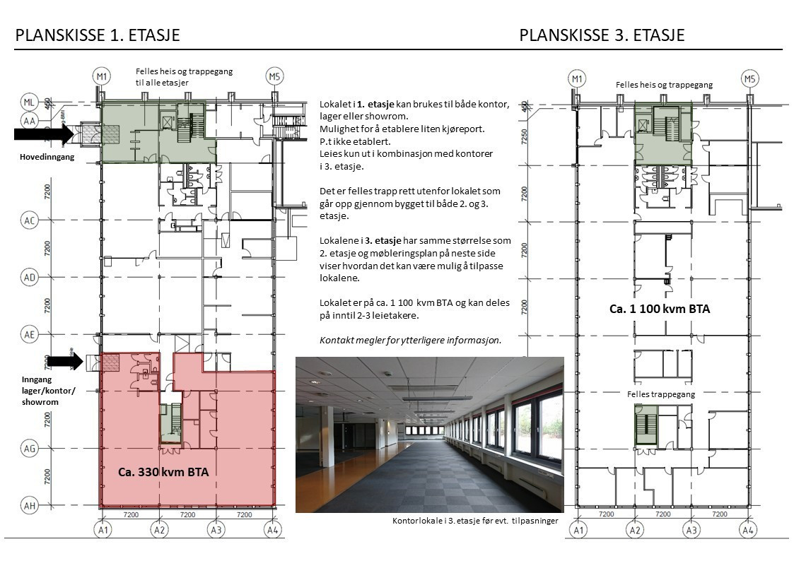 Planskisser 1. og 3. etasje
