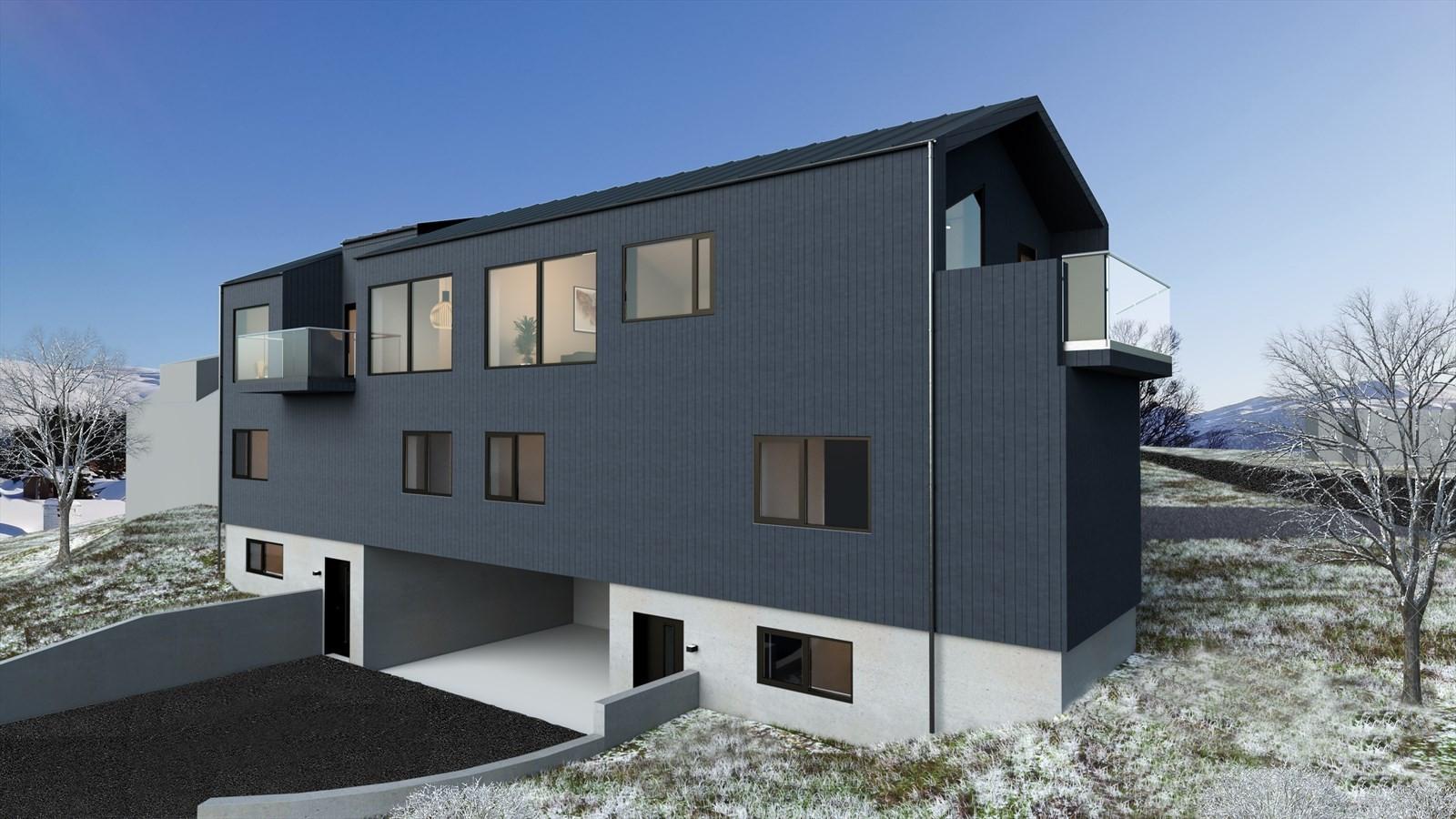 Fasade seksjon A og B