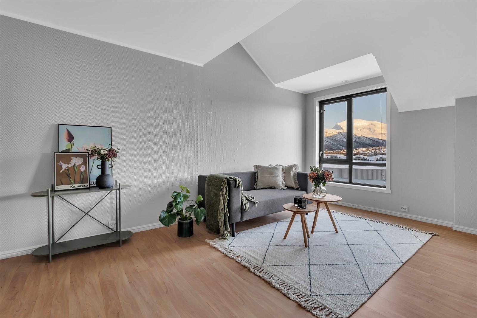 Lys og trivelig stue med flott utsikt!