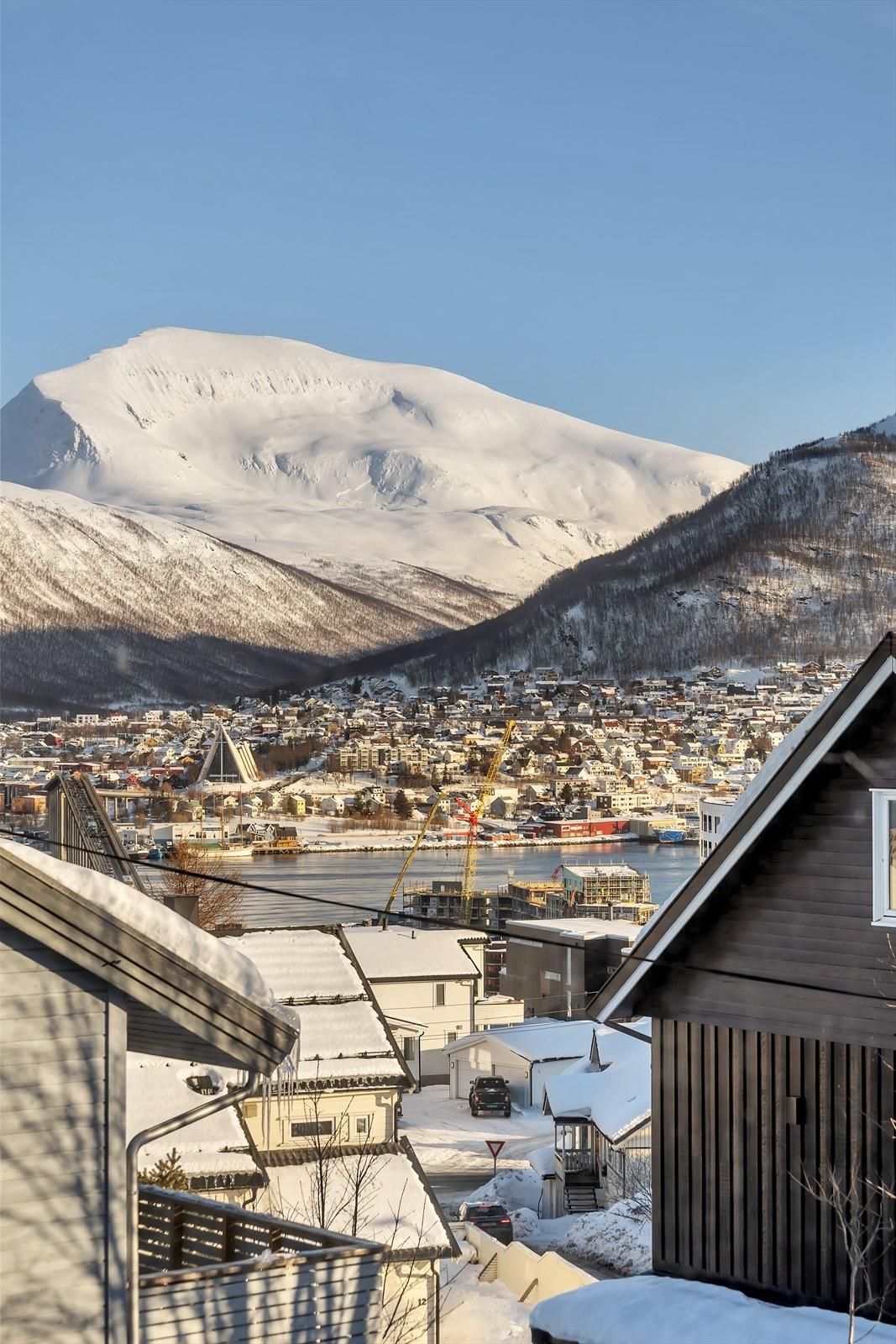 Utsikt fra hus  B