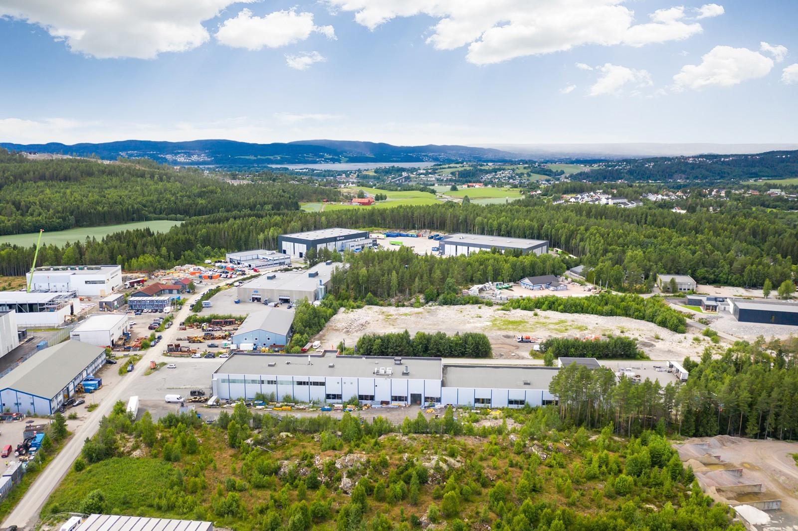 Oversiktsbilde Fetsund Næringspark - mot vest