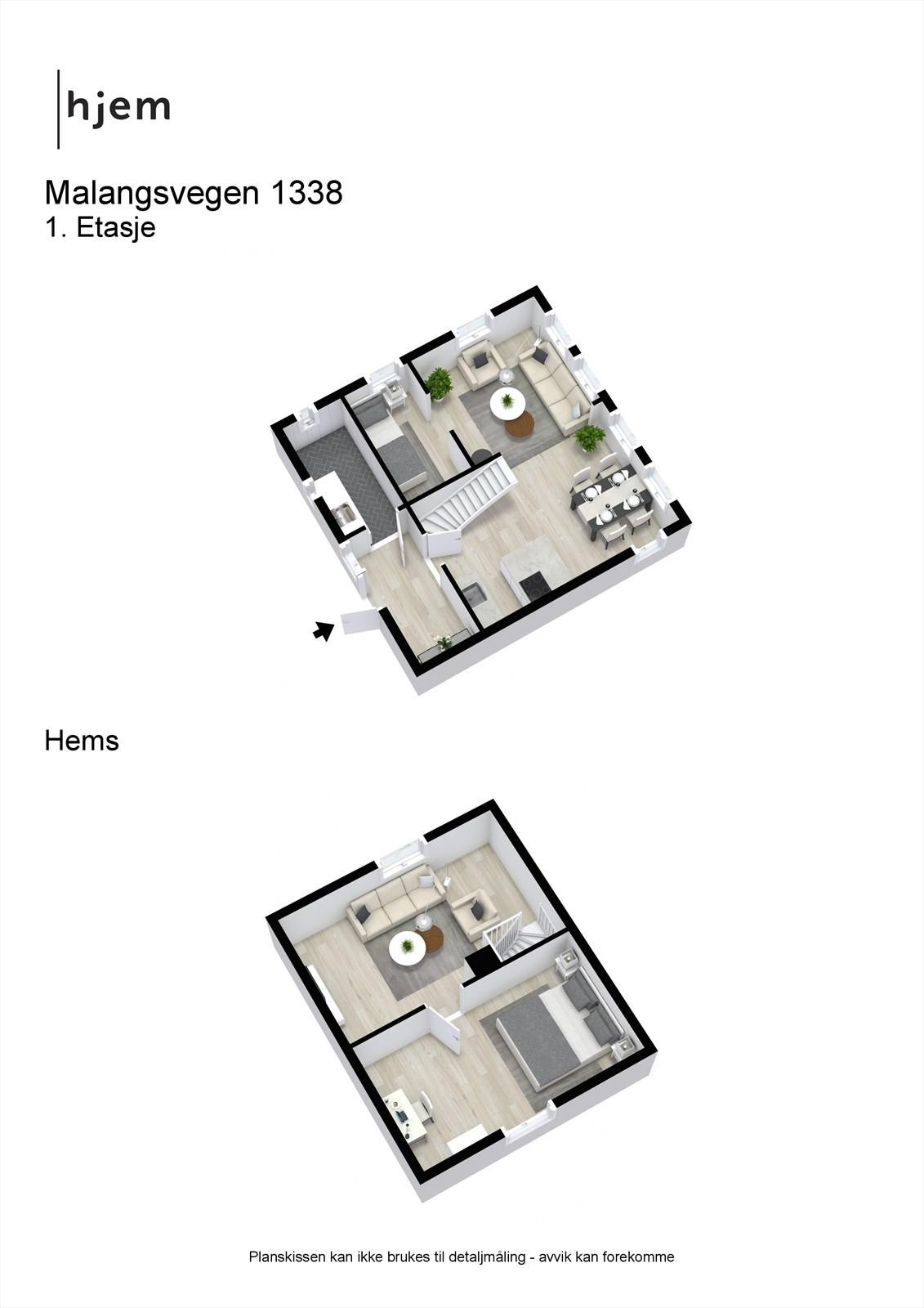3D planillustrasjon samlet