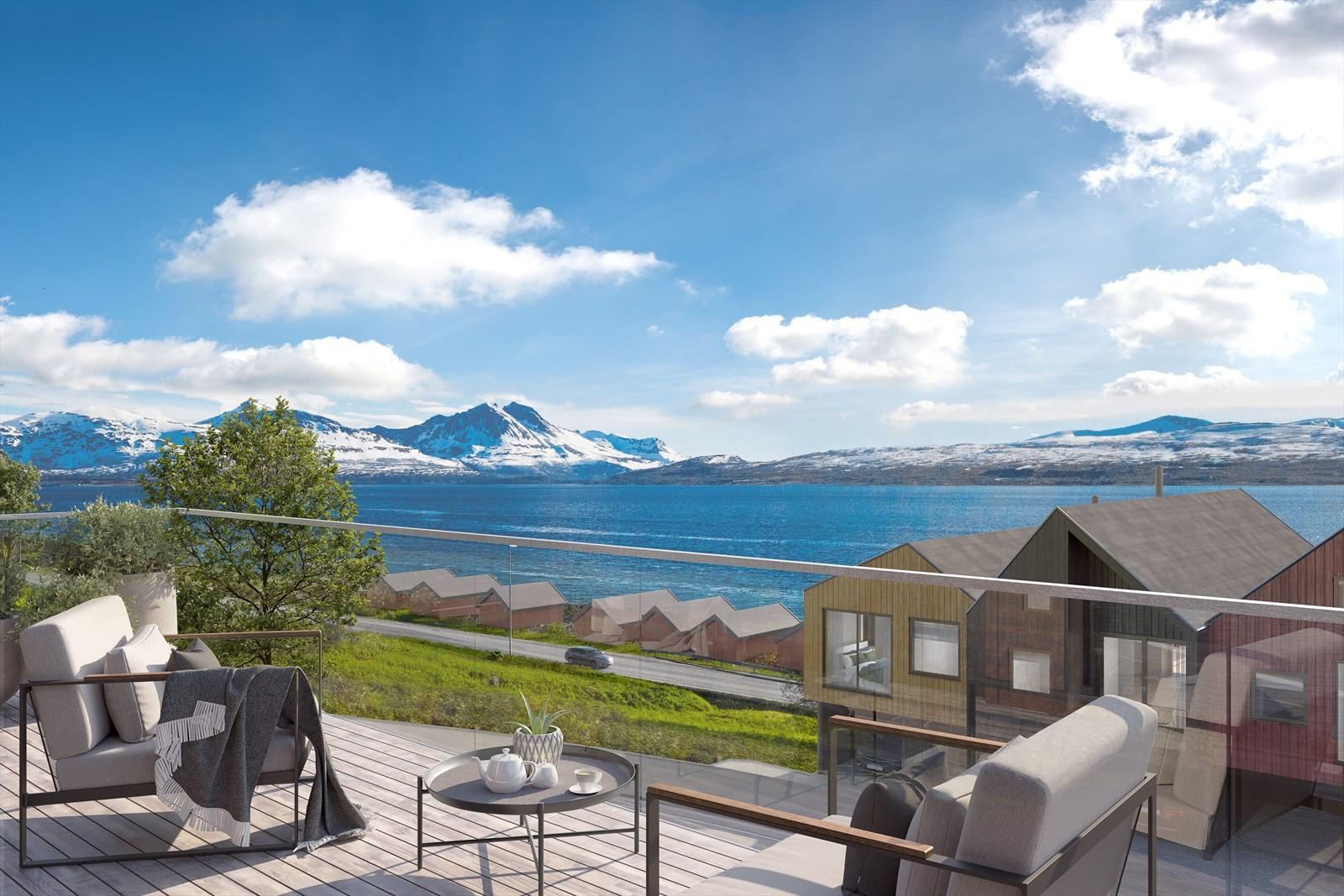 Vestvendte boliger med gode solforhold