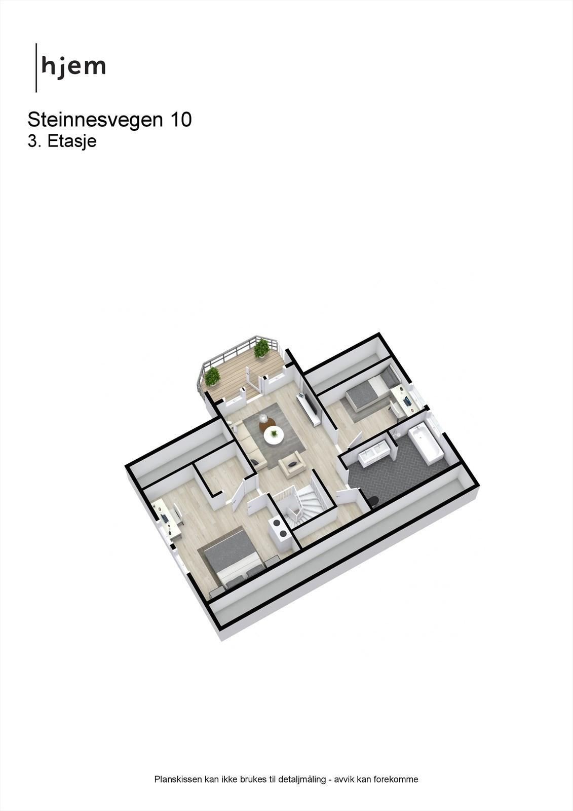 3D planillustrasjon 3.etg