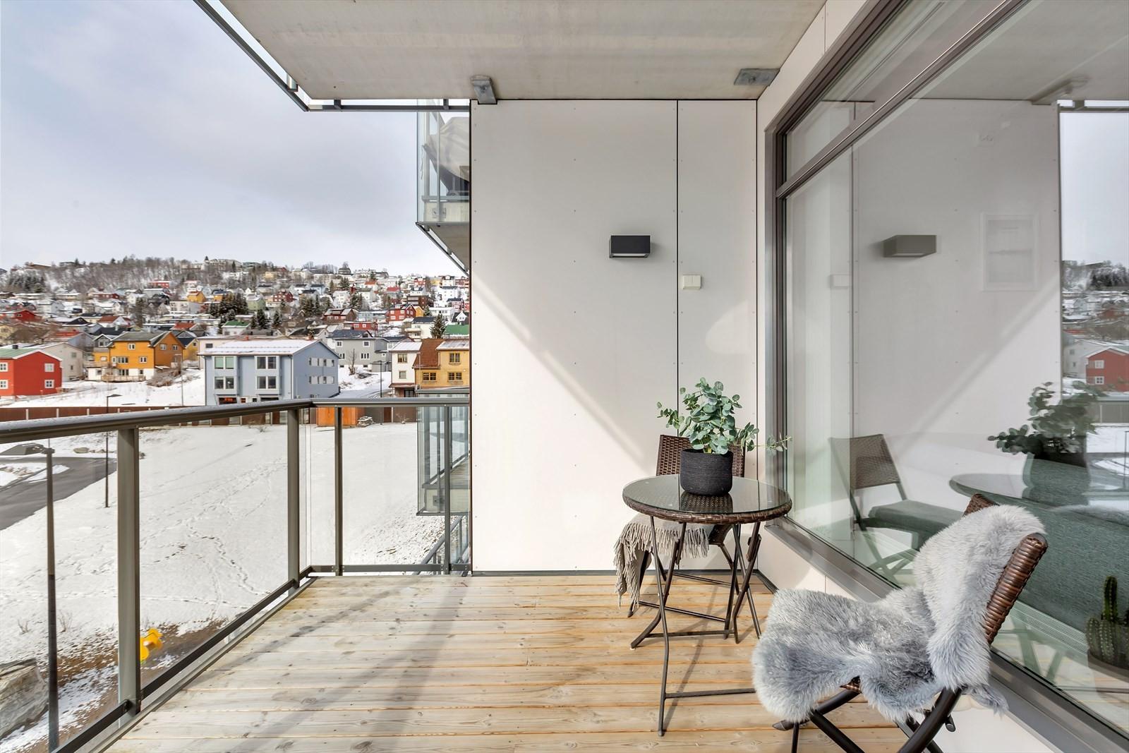 Lun og fint - dette er en terrasse som virkelig kan brukes