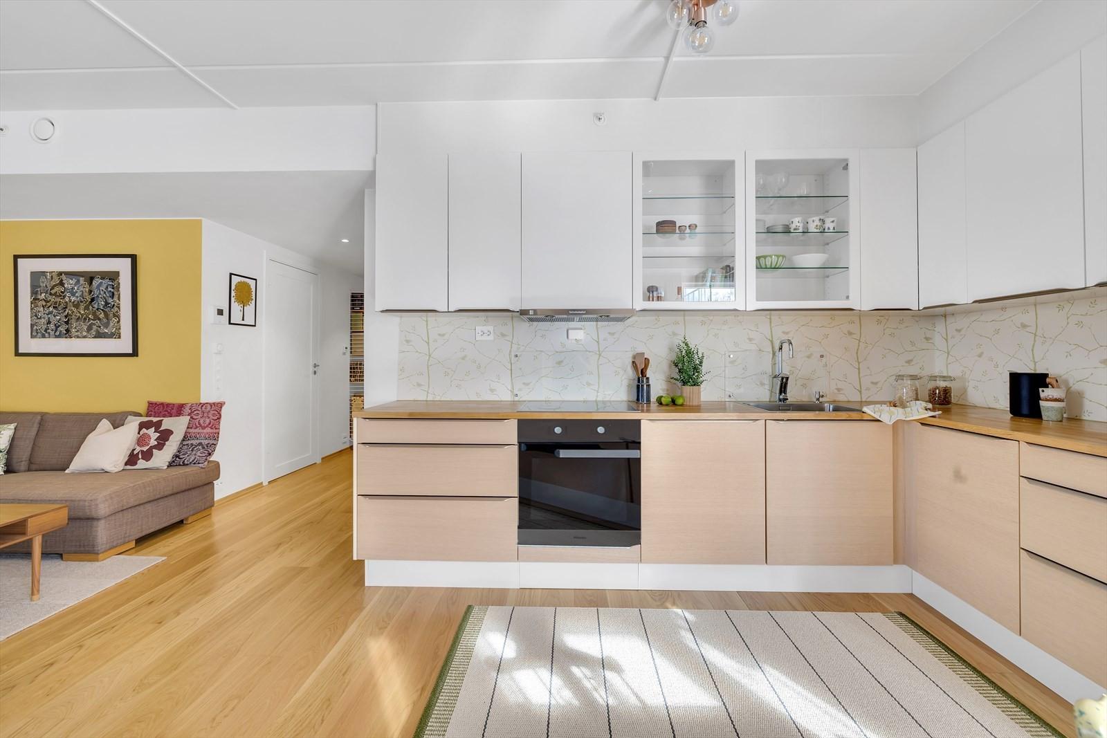 Kjøkkenet er oppgradert fra opprinnelig leveranse fra utbygger