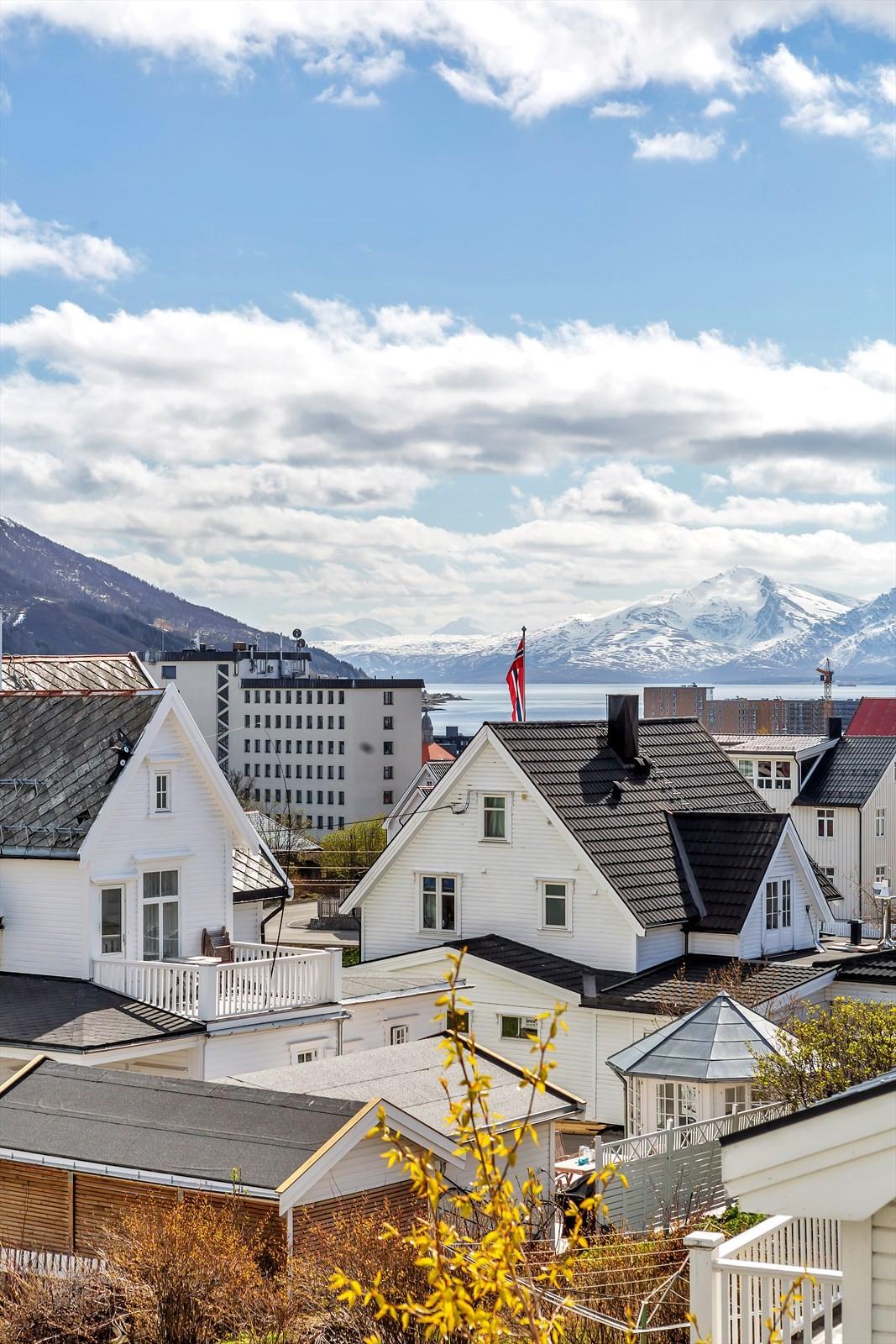 Fin sørvendt utsikt mot Balsfjorden