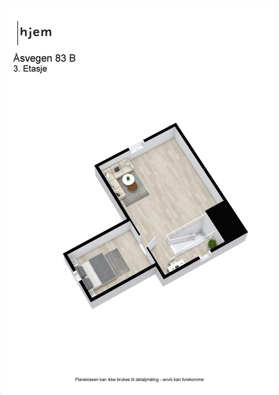 Planløsning 3. etasje.