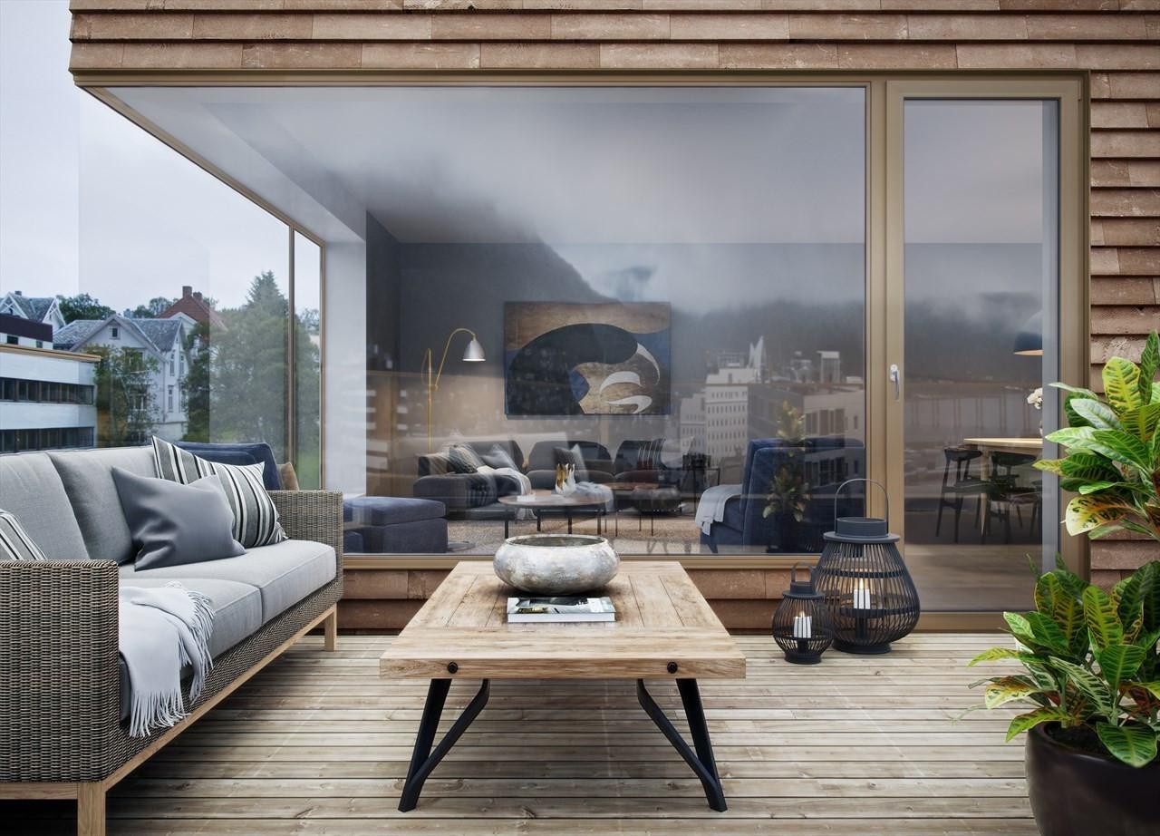 Solrike balkonger av høy kvalitet - illustrasjon