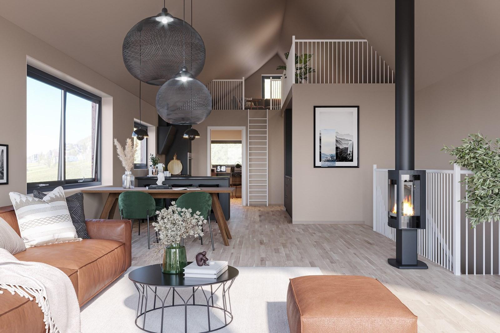 Noen av boligene vil også få hems som kan brukes til lagring, kontor eller en ekstra TV stue.