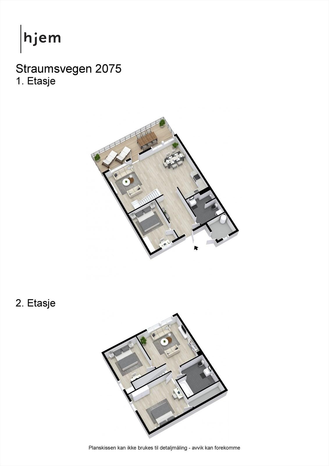 3D planillustrasjon begge plan.