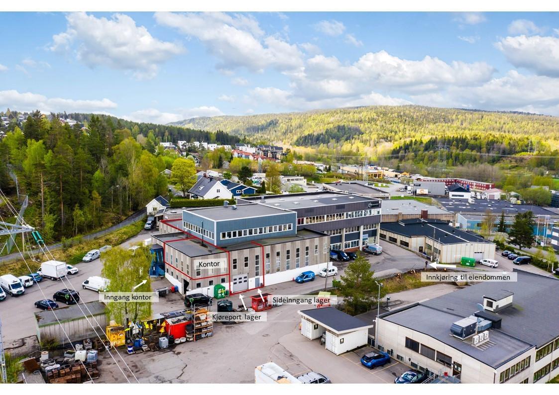 Høytlager, lager og kontor sentralt på Visperud næringsområde