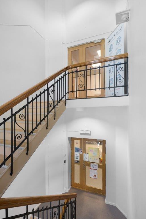 Trappegang til lokalet