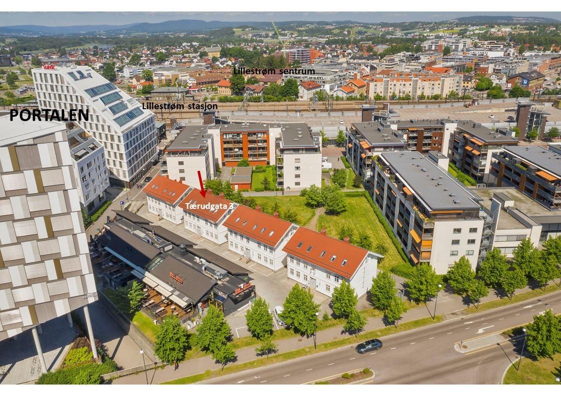 Meget god beliggenhet i Lillestrøm sentrum med gangavstand til alle fasiliteter