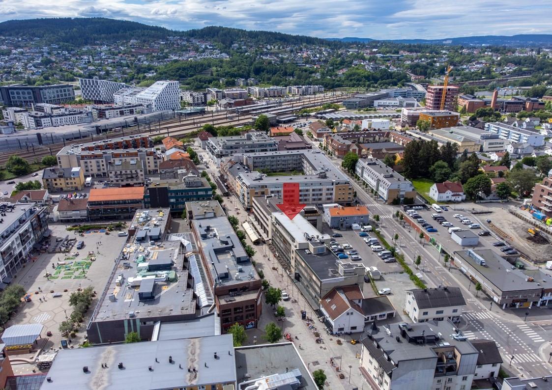 Storgata 16 mot Lillestrøm togstasjon