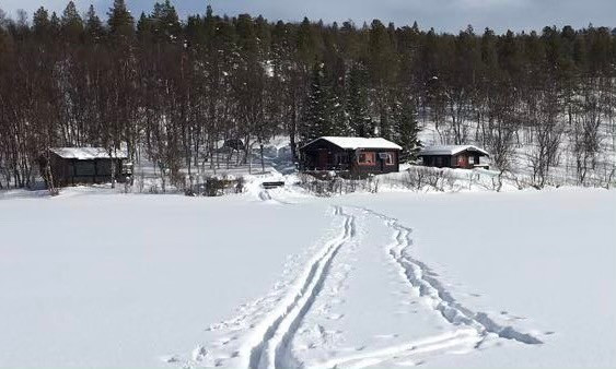 Vinter ved Fiskelausvatn