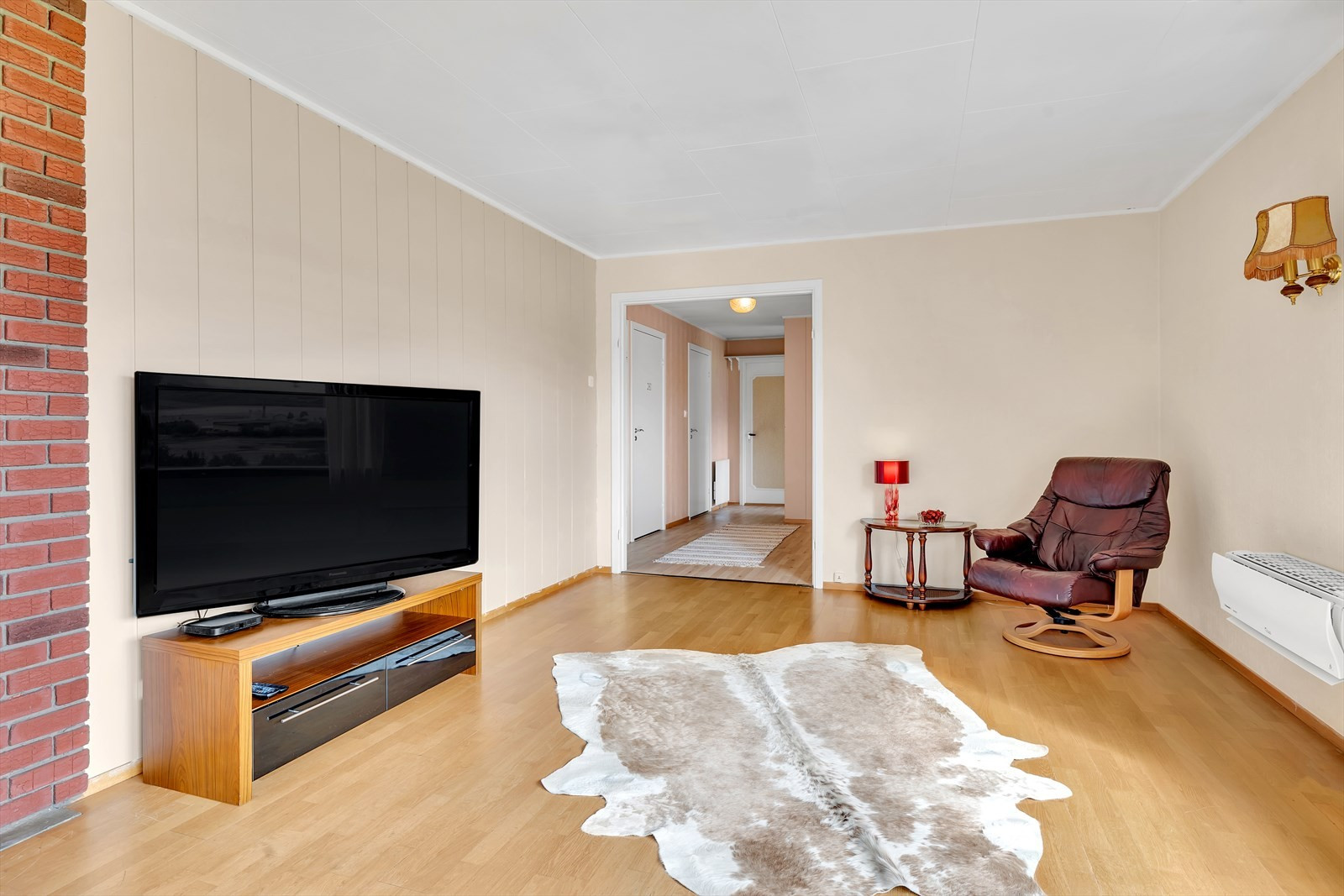 Varmepumpe montert i stuen