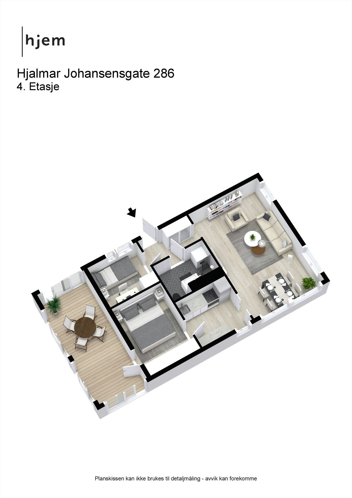 Hjalmar Johansensgate 286 - 4. Plan