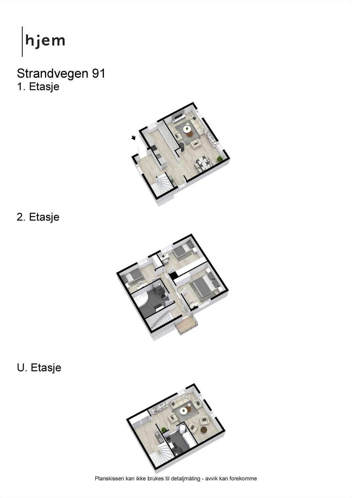3D planillustrasjon av alle plan