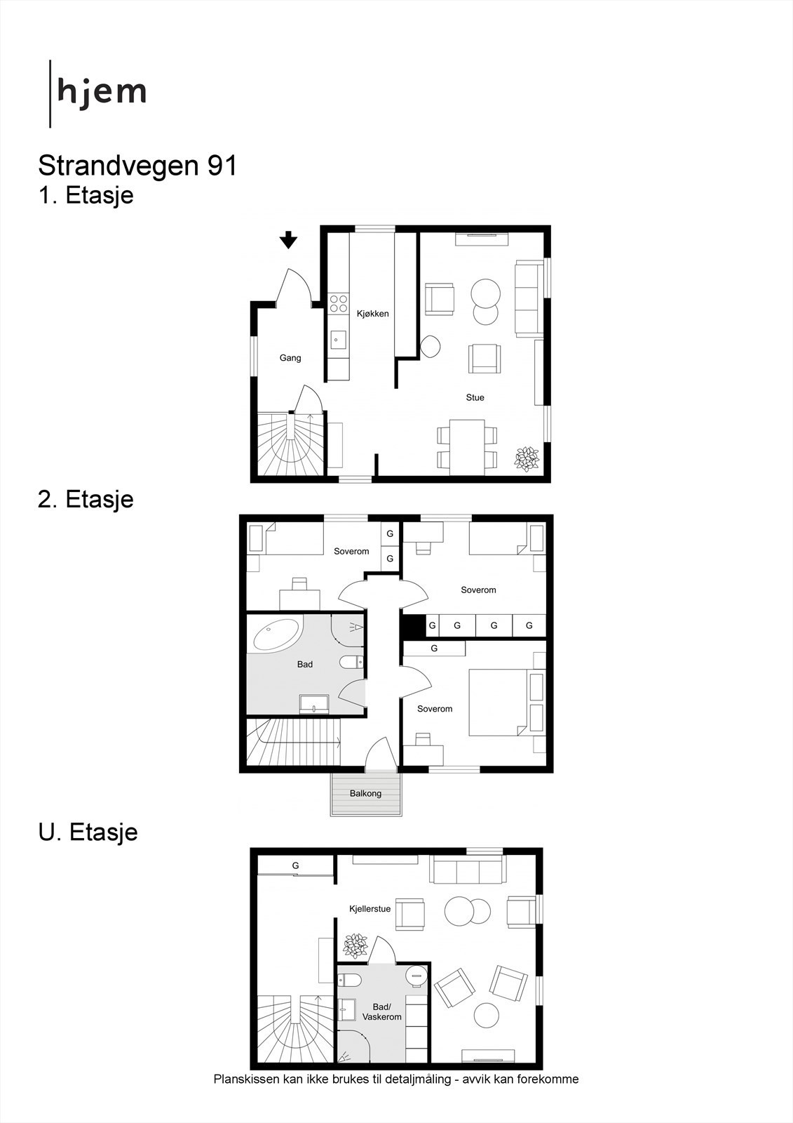 2D planillustrasjon av alle plan.