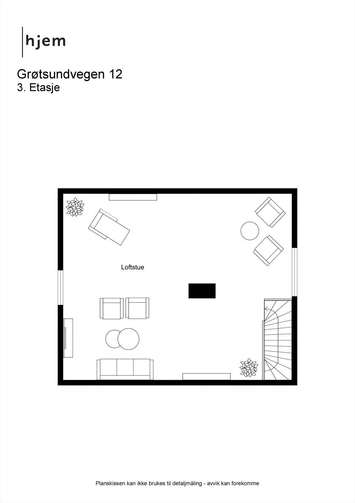 Plantegning 2d, loft