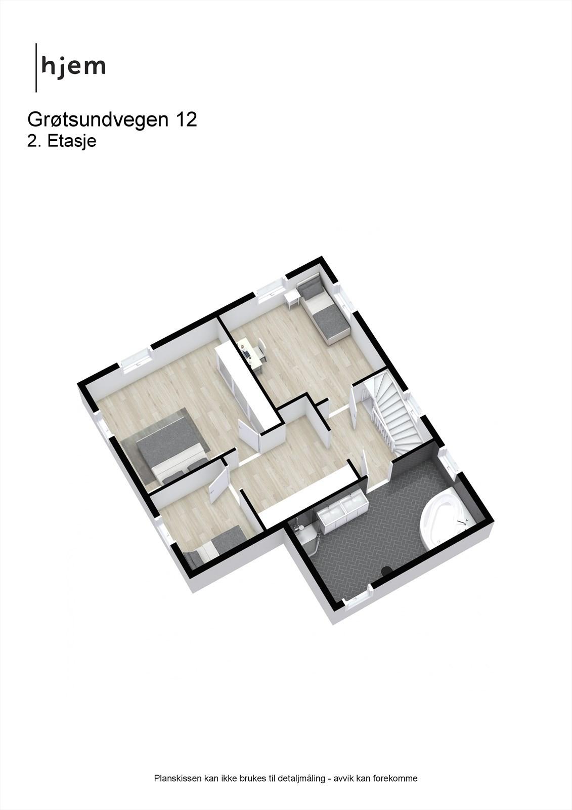 Plantegning 3d, 2. etasje