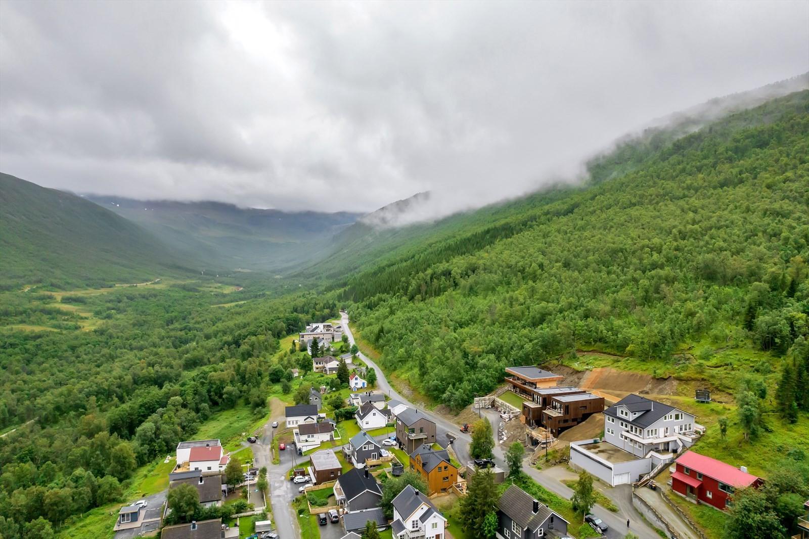Flotte turområder innover Tromsdalen. Her kan man benytte seg av turstier mot Tromsdalstinden, Fløya og Bønntuva for å nevne noen.
