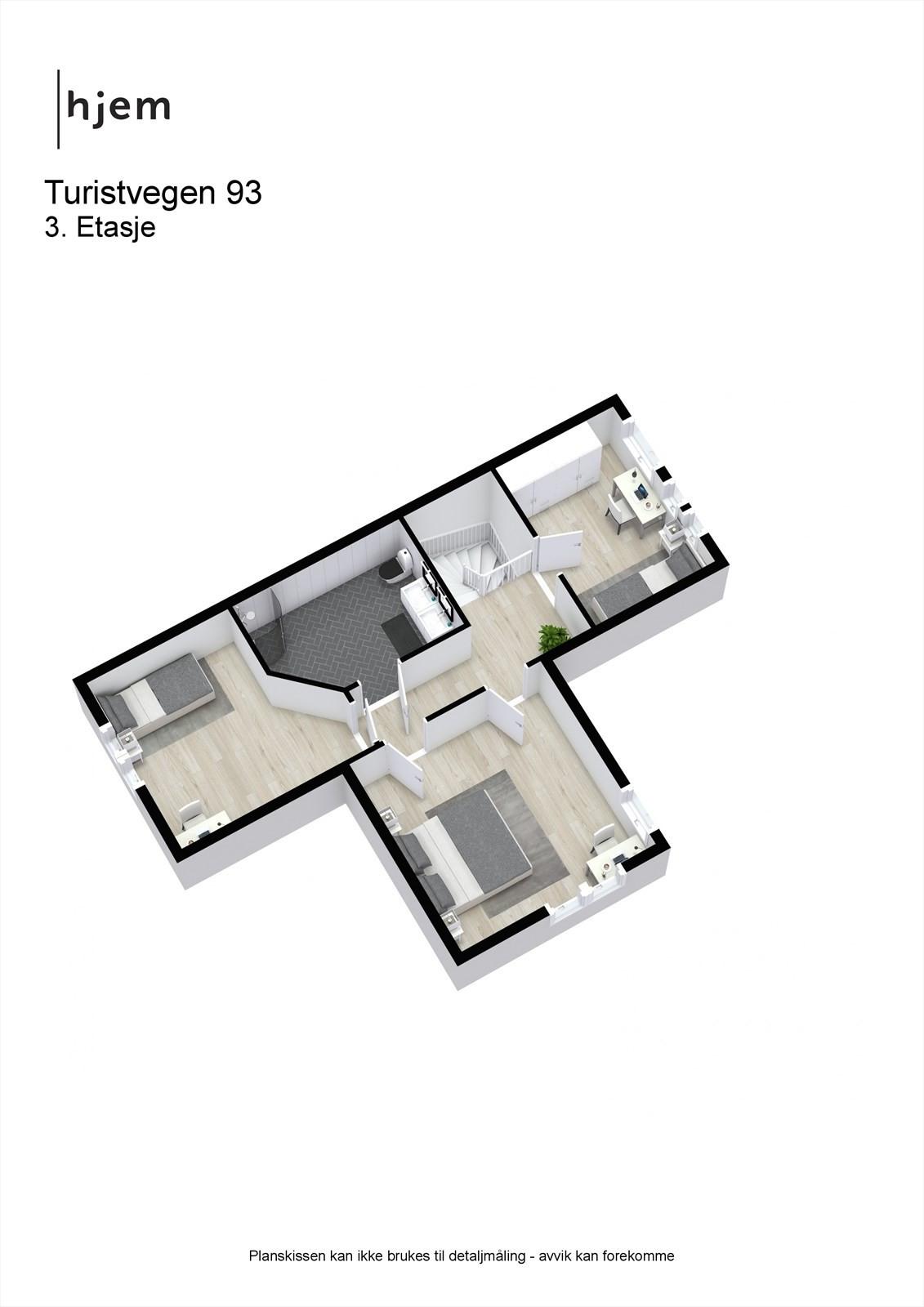 3D planillustrasjon øvre plan