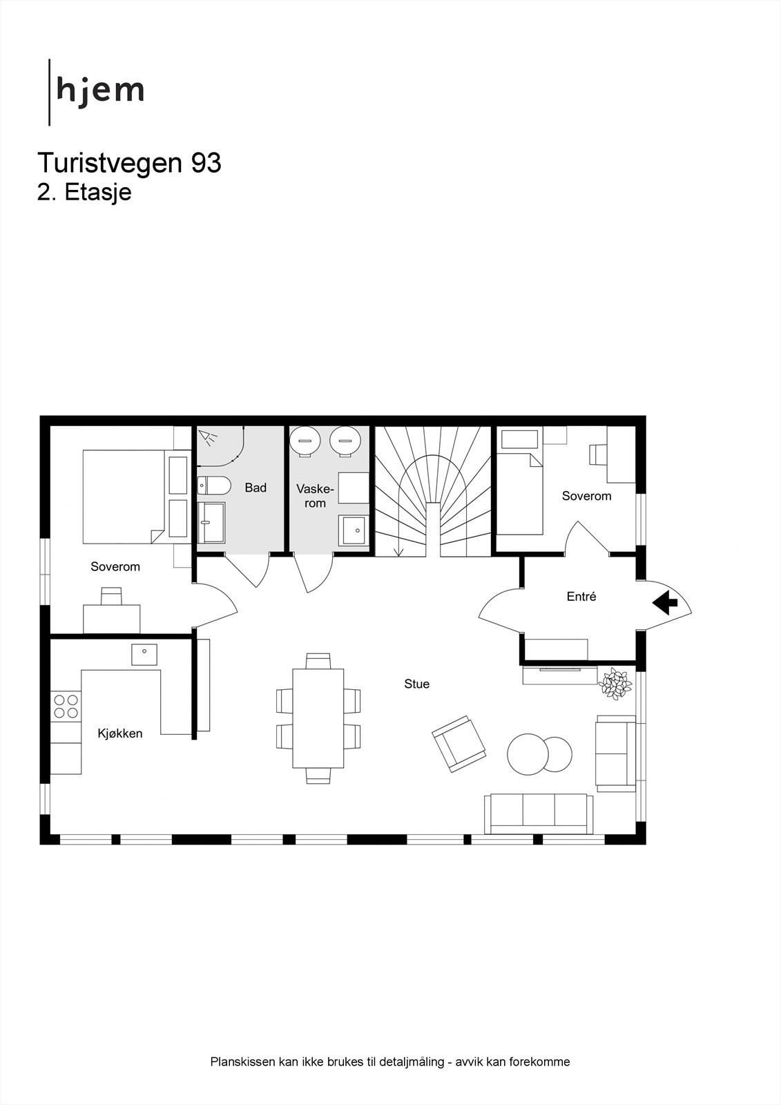 2D planillustrasjon hovedplan