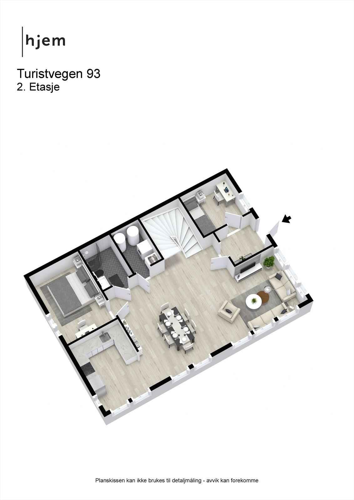 3D planillustrasjon hovedplan