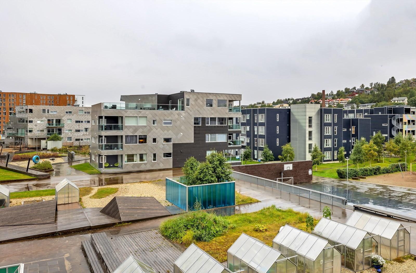 Boligen har tilknytning til opparbeidede uteområder hvor man også har mulighet til å leie drivhus