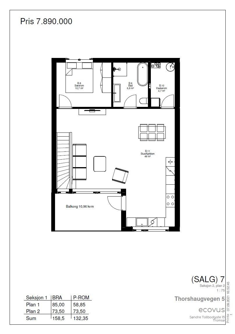Plantegning Hus B plan 2