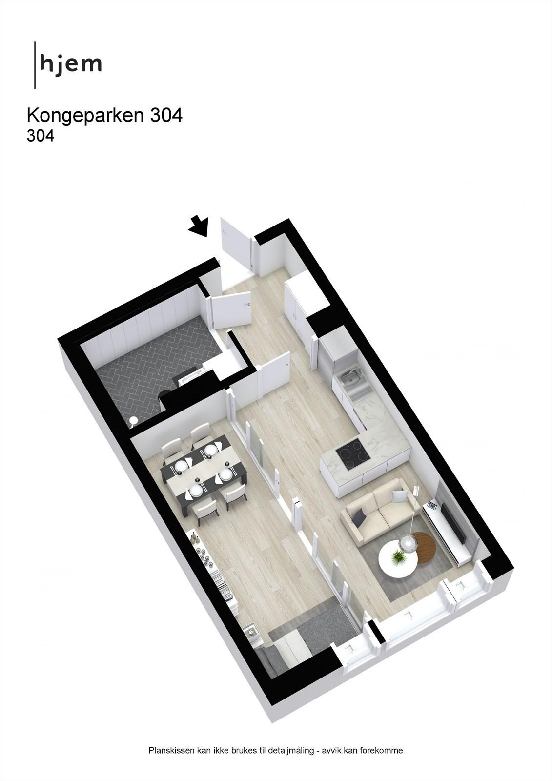 Kongeparken 304 - 3D -