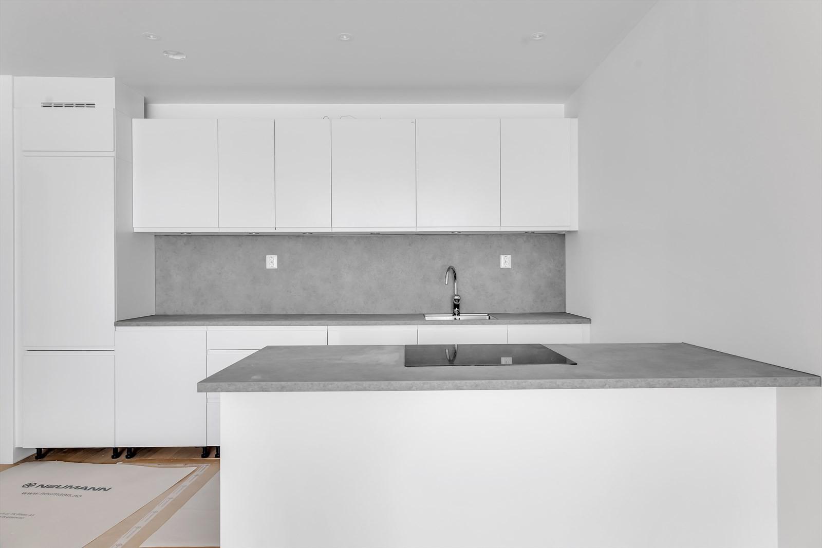 Vi levere Kvik kjøkken med integrerte hvitevarer - dette kjøkkenet er fra en annen leilighet