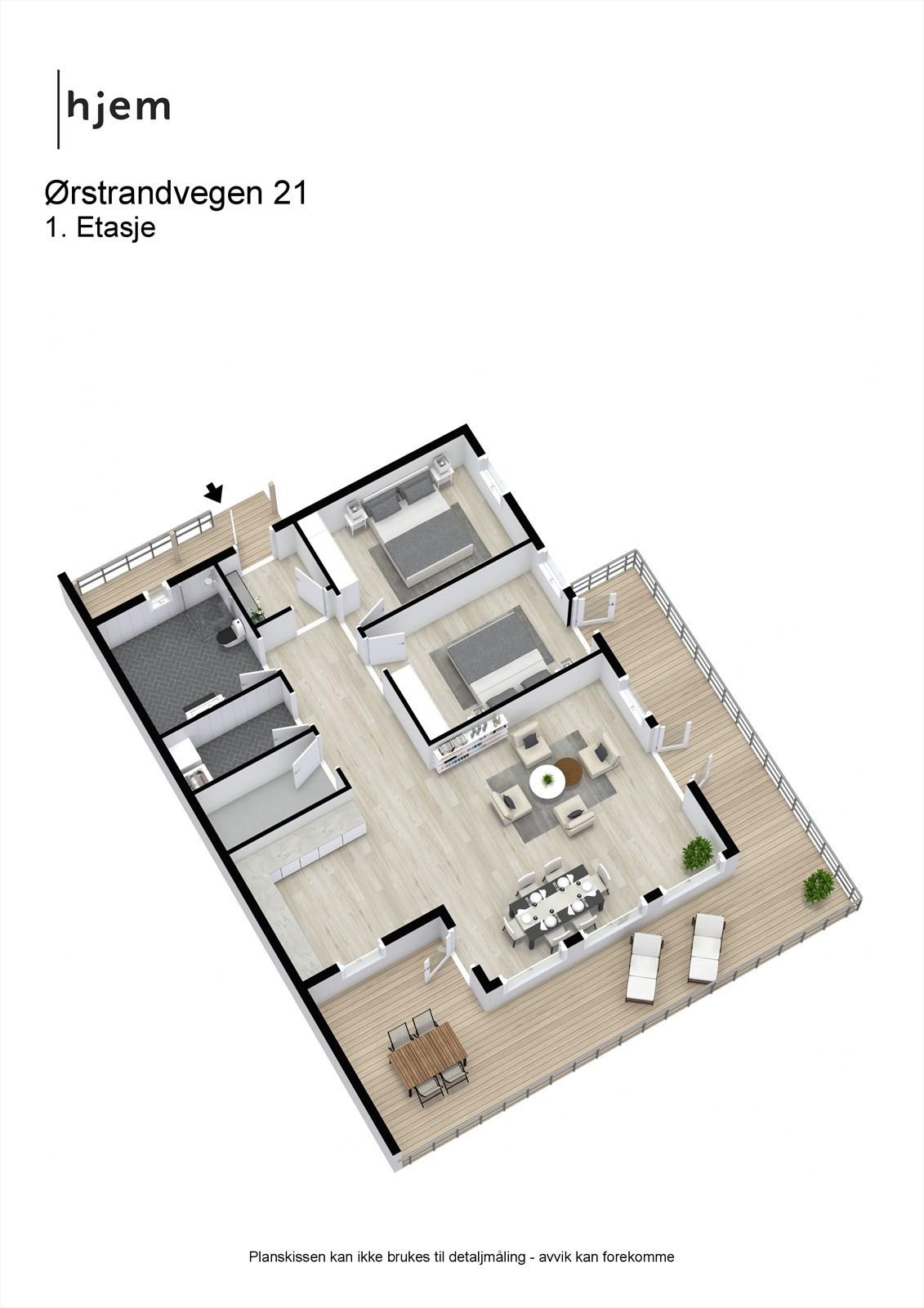 Ørstrandvegen 21 - 3D - 1. Etasje