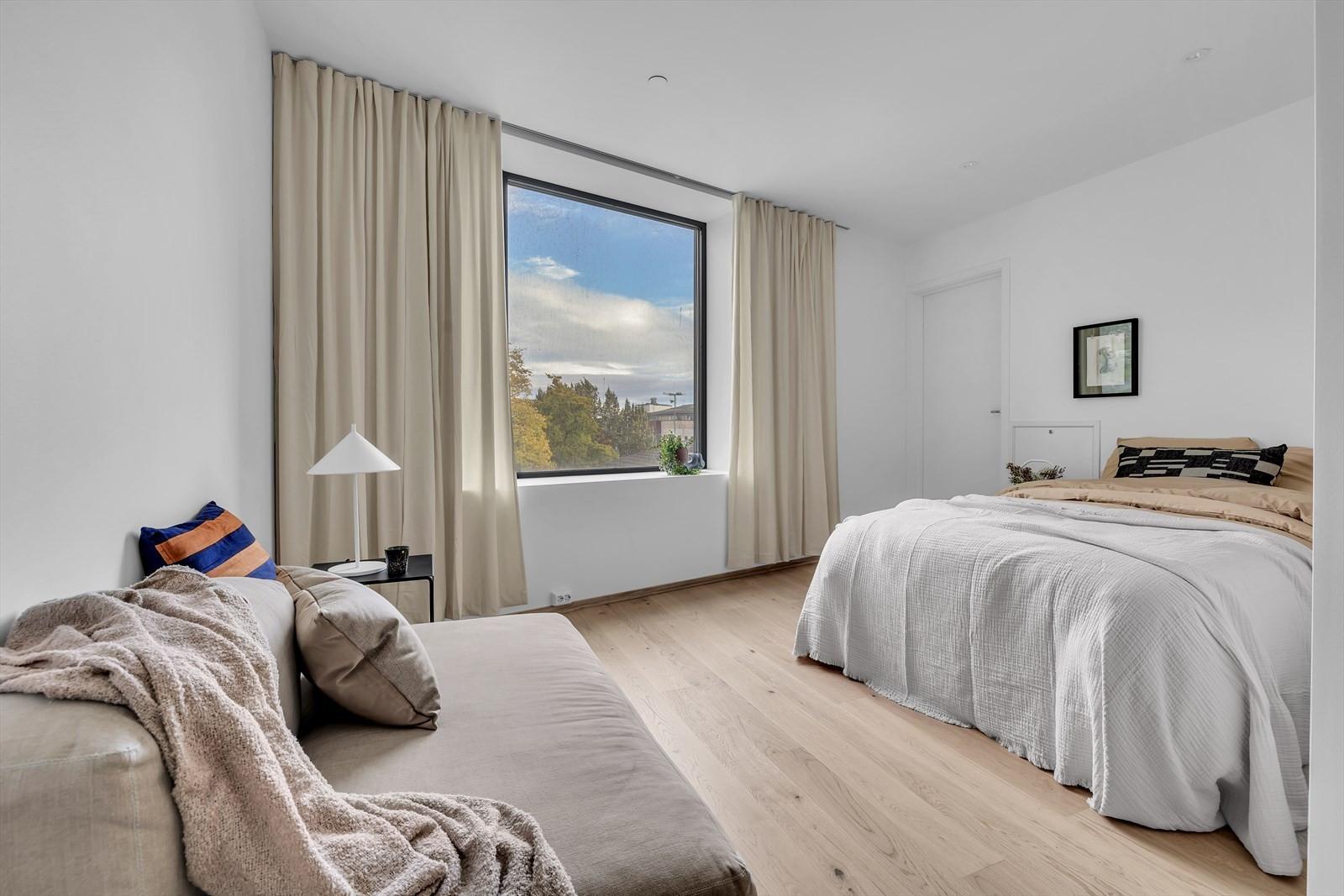 Utleie leiligheten er ferdig full innredet fra utbygger sammen med Evok Agency