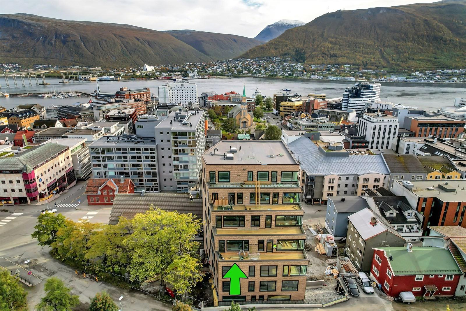 Dette praktbygget ligger midt i Tromsø sentrum