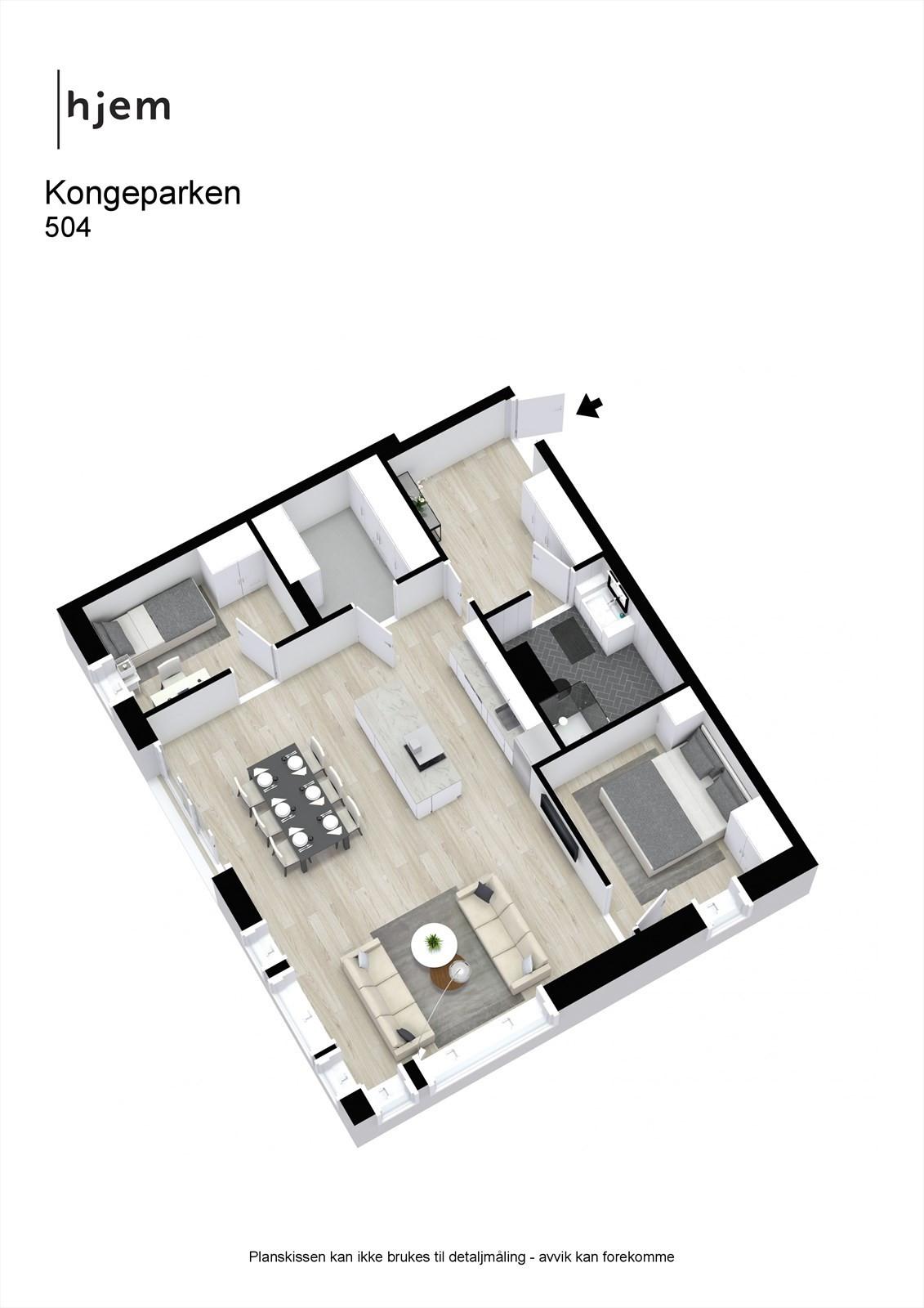 Kongeparken - 3D - 504 - møblert