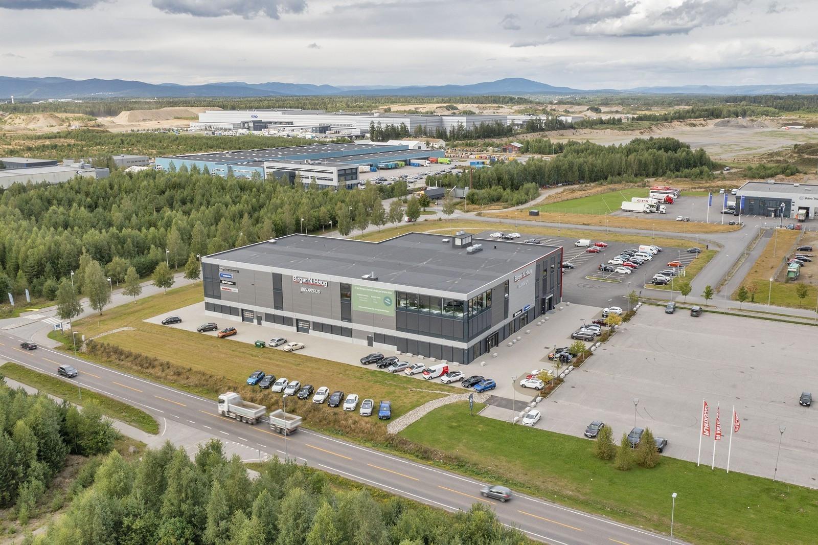 Nybygg på inntil ca. 8 000 kvm i samme bygg som Birger N. Haug sitt nye bilvarehus