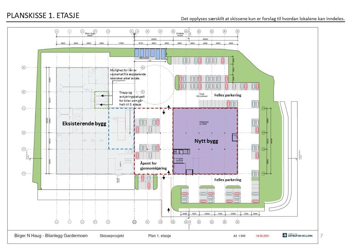 Planskisse - 1 etasje
