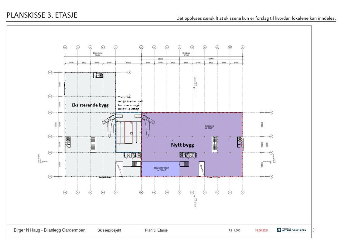Planskisse - 3 etasje