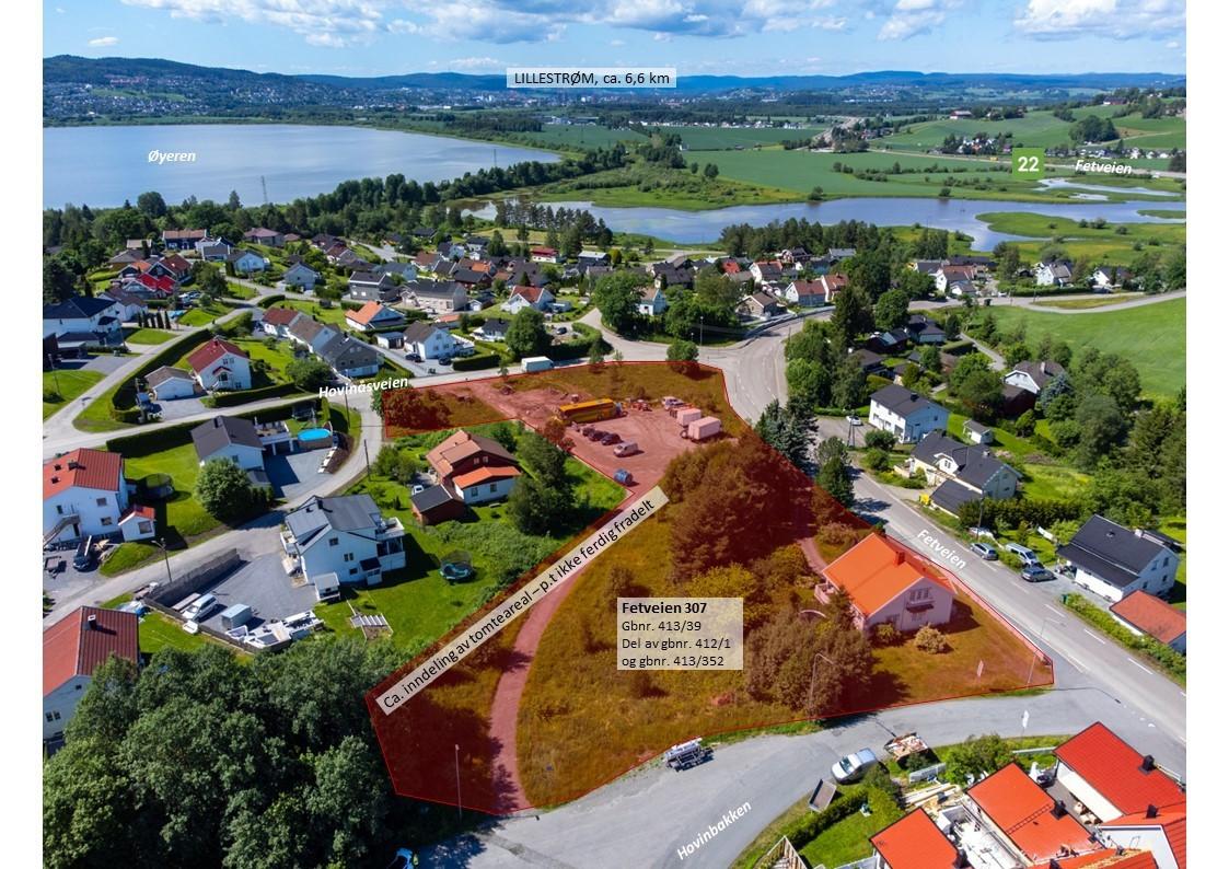 Eiendommen er regulert til bolig - eksisterende hus på eiendommen forutsettes revet ifbm. utvikling