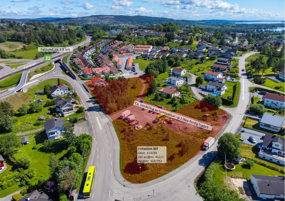 Ca. 1,8 km til Fetsund og ca. 6,6 km til Lillestrøm sentrum