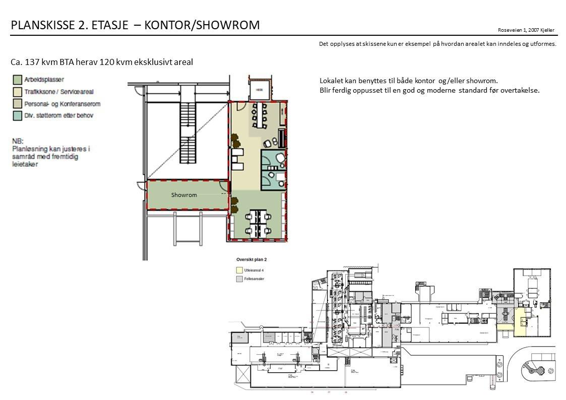 Planskisse 2. etasje - forslag til inndeling
